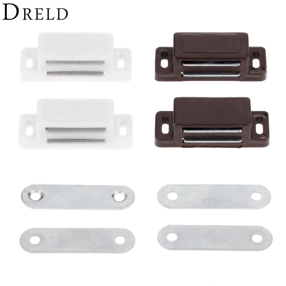 DRELD 2Pcs 46*16MM Magnetic Door Catches Kitchen Cupboard Wardrobe ...