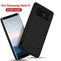 5000/6500mAh Portable Powerbank Cover Battery Charger Case For Samsung Galaxy Note 8 9 S8 Plus External Backup Power Bank Case