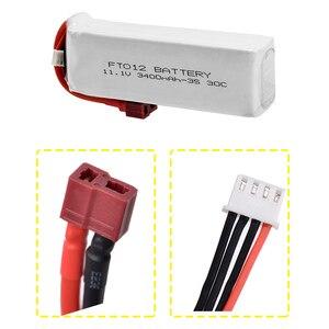 Image 2 - Verbesserte Rc lipo Batterie FT012S 11,1 v 3400 mah 30C 3 s Ersatz Li po Batterie für Feilun FT012 RC Boot