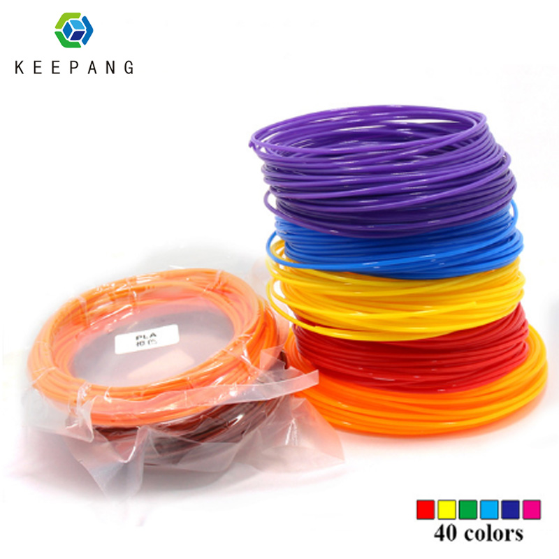 1 pcs 10 Meter PLA 1.75mm Filament Printing Materials Plastic For 3D Printer Extruder Pen Accessories White Red 40 colors pla 1 75mm filament 1kg printing materials colorful for 3d printer extruder pen rainbow plastic accessories black white red gray