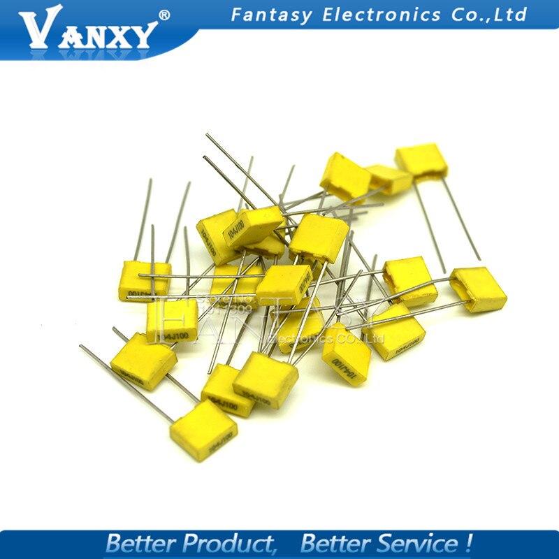 Купить с кэшбэком 20pcs Polypropylene Safety Plastic Film  100V 1nF ~ 470nF 100nf 220nf 10nf 47nf 22nf 1nf 0.47uf 0.1uf Correction capacitor