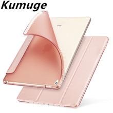 Case capa para Apple iPad Mini 1/2/3 TPU Silicone Tampa Traseira para Mini iPad 4 Flip Fique Proteja Caso Tablet Capa + Film + caneta