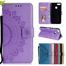 Y9 2018 Leather Case on for Huawei Y9 2018 Cover Luxury Flip
