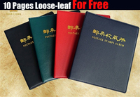 High Quality Postage Stamp Album Sheets Collecting Book Post Stamps Album Pages ,Cotain 10Pages Duplex Loose Leaf