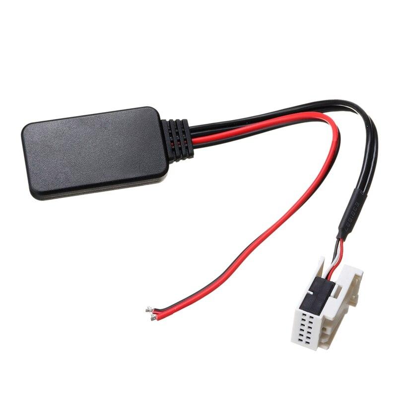 12-контактная зарядная Модульная плата Беспроводной Bluetooth стерео музыкальный приемник адаптер вспомогательный Aux аудио кабель для Mercedes-Benz ...
