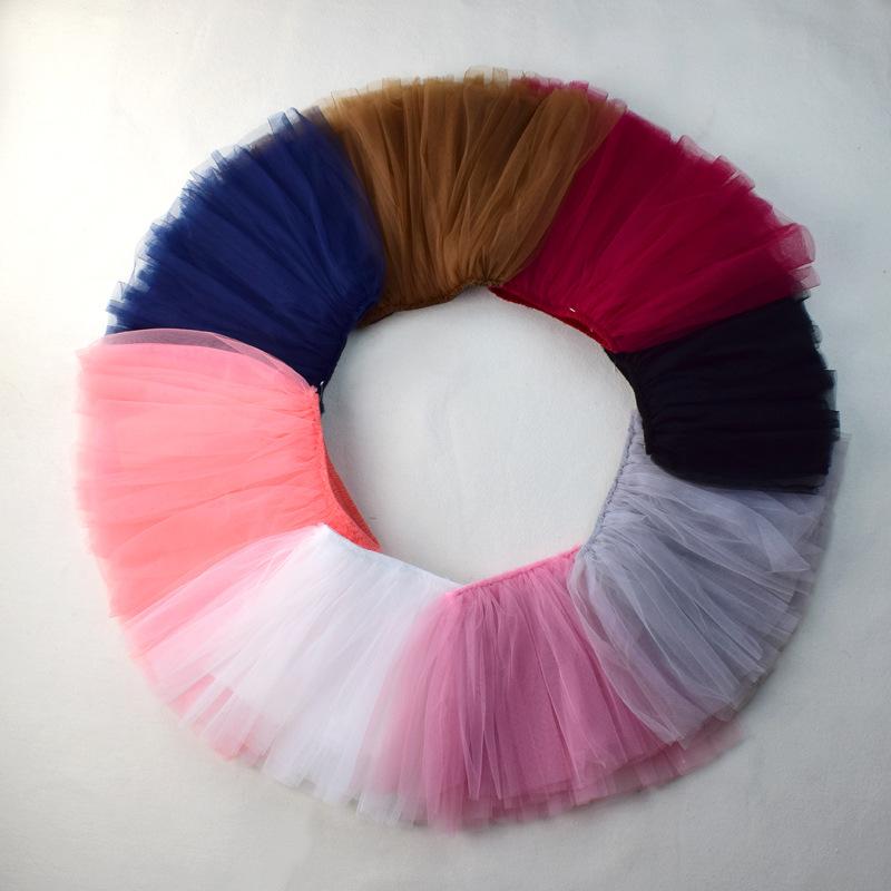 Baby Girls Tutu Skirts Pettiskirt Kids Tulle Skirt Children Underskirt Ballet Dance Petticoat Party Miniskirt Clothes Wholesale (12)