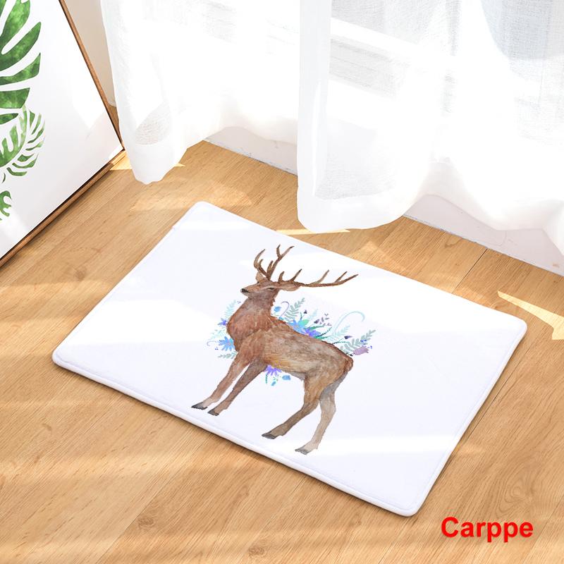 Flannel Floor Mats Nature Song Printed Bedroom Living Room Carpets Cartoon  Bear Pattern Mat for Hallway Anti-Slip Tapete - us874 3f77af005fe4