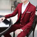 2016 spring Fashion Jackets+Pants+Vests 3 Pieces Blazers Men's Wedding clothes Slim Fit Business Suits Free shipping M-XXL