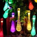 15ft 20 LED 20ft 30 Fada LED Iluminação de Cristal Da Gota Da Água para As Árvores de Natal, jardim, pátio, vestido de casamento, partido, Decoração do feriado