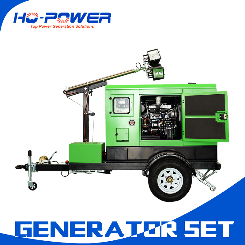 Portable Light Tower Price: Silent Trailer Light Towers Construction Use Diesel