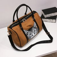 Travel bag female handbag short distance duffel bag male light travel large capacity sports fitness bag chic