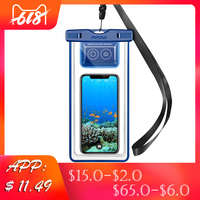 Mpow IPX8 водонепроницаемый чехол для телефона, сумка для плавания, остающийся сухим под водой, Сумка с Bluetooth контроллером для iPhone X 8 pochette etanche