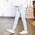2016 новое поступление весна осень девушки джинсы детская одежда детские детская длинные брюки брюки для 3-12Y 3620