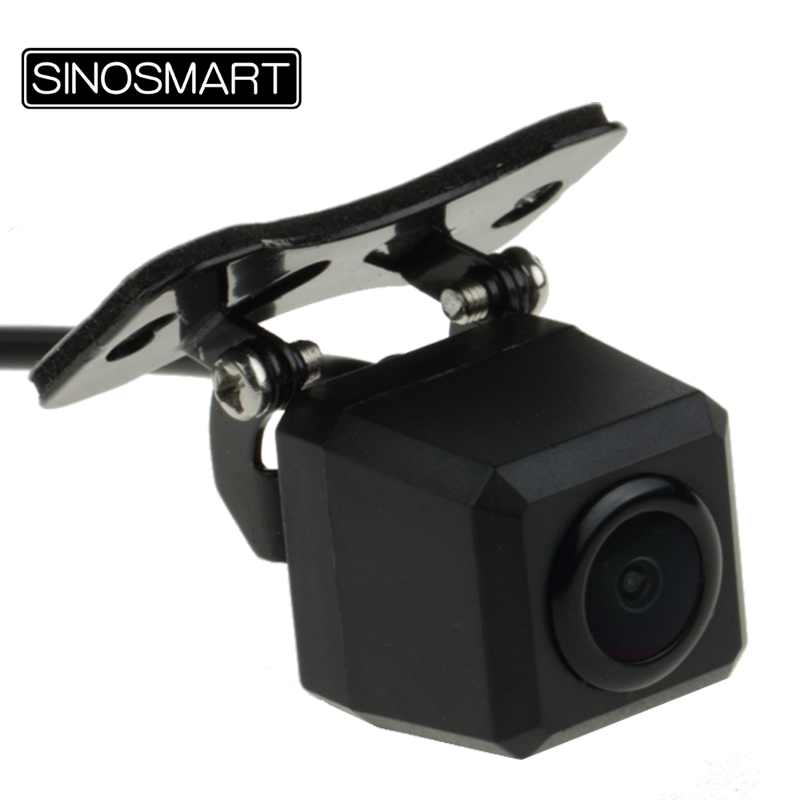 SINOSMART HD Universal Square Reversing Parking Camera for Car SUV Truck Bus Jeep Installation with Adjustable View Angle