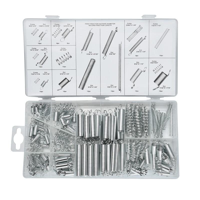 MX-DEMEL 200Pcs/set Electrical Hardware Steel Spring Drum Extension Tension Springs Pressure Suit Metal Accessories Tools