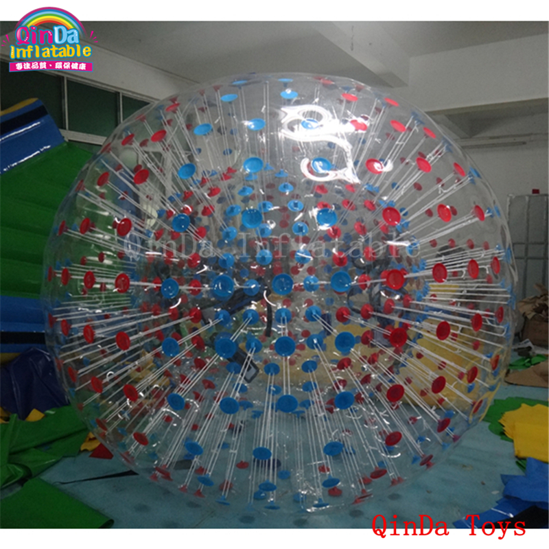 Free air pump 1.0mm PVC air bumper ball,outdoor game inflatable body zorb ball for sale