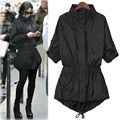 Autumn Style Ladies Single Breasted Long Trench Slim Black Long Sleeve Pokets Women's Outwear Trench Coat For Women 4XL
