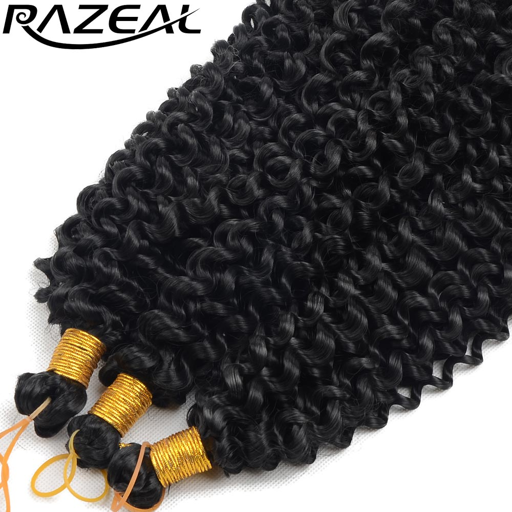 Razeal Curly Crochet Braids Hair 14inch 100g Synthetic ...