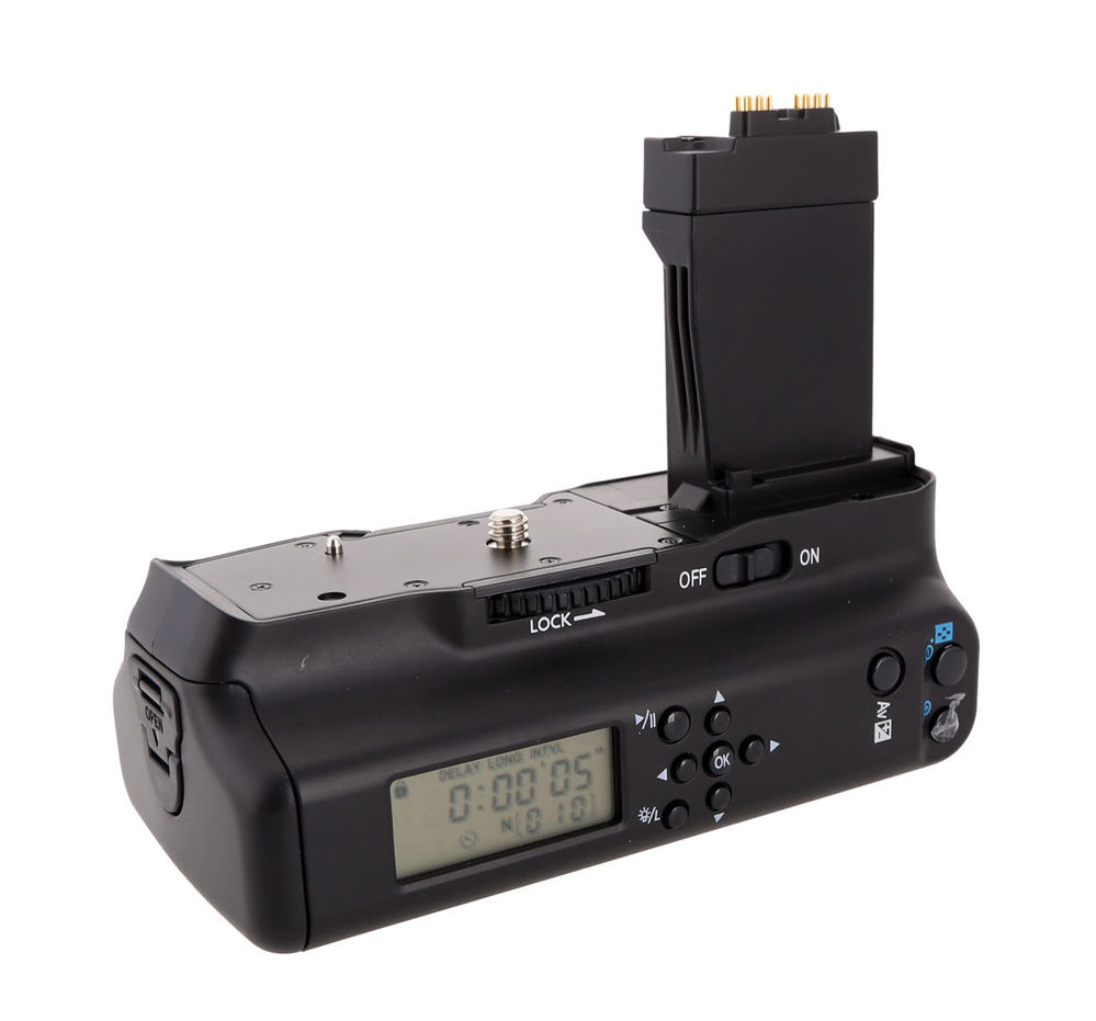Meike Mk 550dl Battery Grip With Lcd For Canon 550d 600d 650d 700d Batre Lp E8 Untuk Tipe Kamera Eos Bg 2x In Grips From Consumer Electronics On