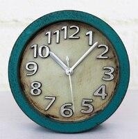 De oude metalen zilver digitale 3D stereoscopische al fajr klok wekkers despertador digitale horloge home decor plastic enkele