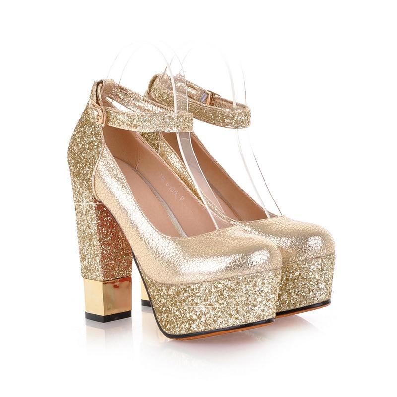 ef10662 Taille Us Femmes Talons 4 Initiale Pompes Chaussures Glitter Mode 5 L'intention Élégant Ef10661 Carrés Rond Or Nouveau 8 Argent Femme Bout q1fWgWwC