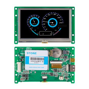 4.3 Inch Smart TFT Display Module with Controller Board + Software + Touch Screen for Industrial Control embedded touch screen 10 1 inch tft module with controller board for equipment control panel