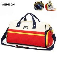 Купить с кэшбэком 2019 Oxford Sport Gym Bag Dry Wet Separation Fitness Training Bags For Shoes Women Travel Bags Swimming Yoga Basketball