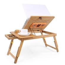 Portable Pliante Office Scrivania Ufficio Biurko Mesa Escritorio Bamboe Laptop Stand Bedside Study Desk Computer Table цена