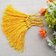 Free shipping wholesale mix color polyester Charm tassel for home decore curtain fitting bookmark curtains