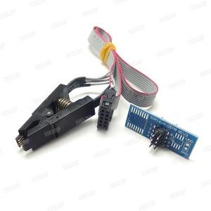 Image 5 - RT809H EMMC Nand FLASH Programmer +16  Adapters +TSOP56 TSOP48  SOP8 TSOP28 Adapter+ SOP8 Test Clip WITH CABELS EMMC Nand