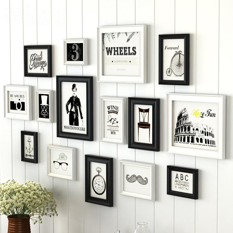 creative white black design home decor wall hanging photo