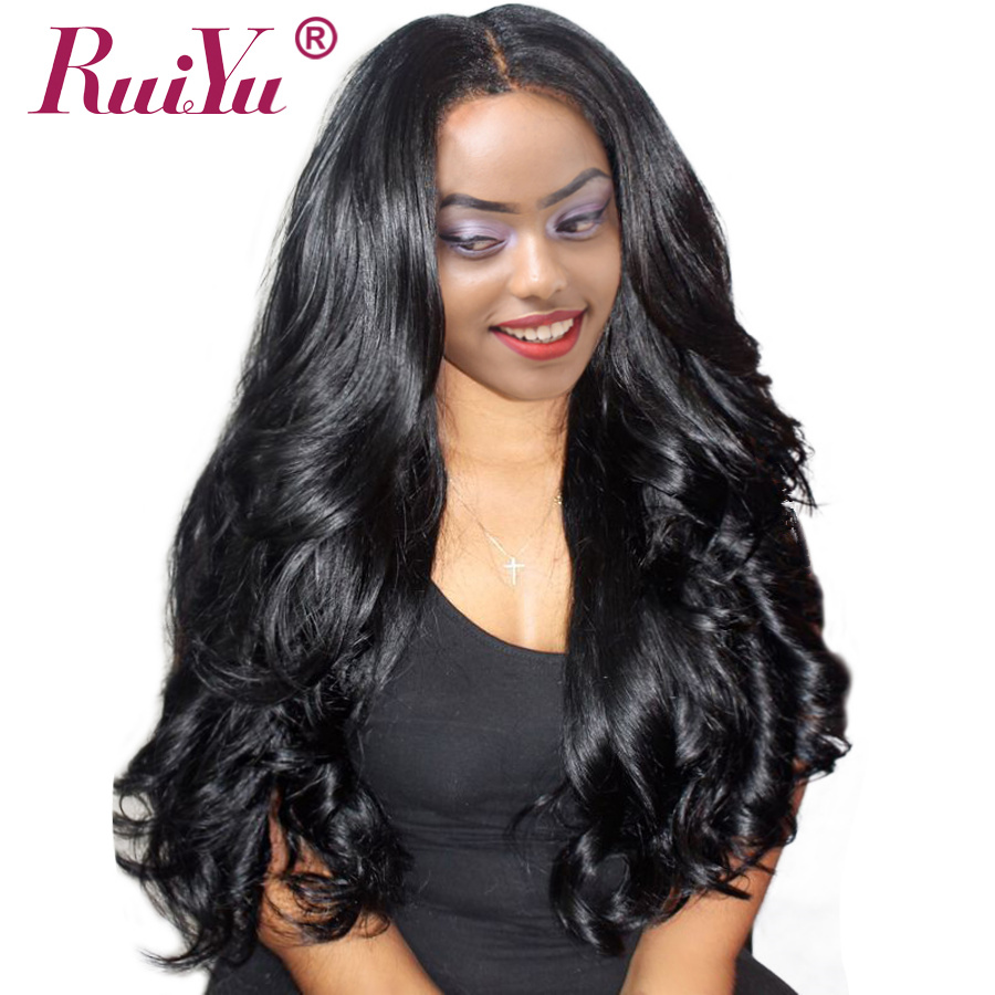 RUIYU Body Wave Lace Front Human Hair Wigs For Black Women 130 Density Pre Plucked 13x6