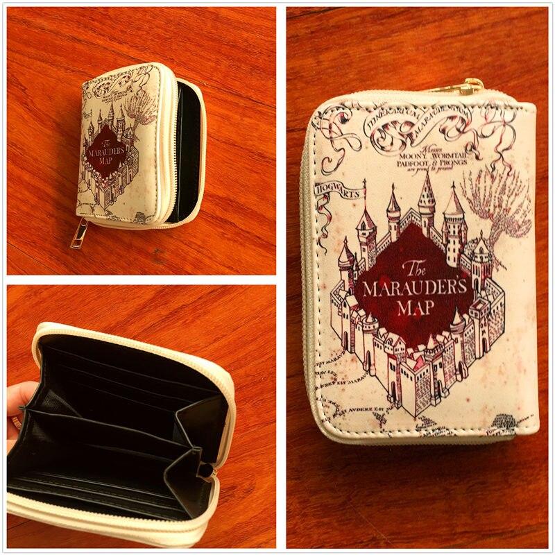 New Harry Potter wallet Hufflepuff Slytherin purse Gryffindor hogwarts purses ravenclaw fashion short wallet card holder W734
