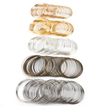 100 loops 0.6mm memória fio de aço com miçangas para diy joias descobertas pulseira que faz diâmetro 6cm