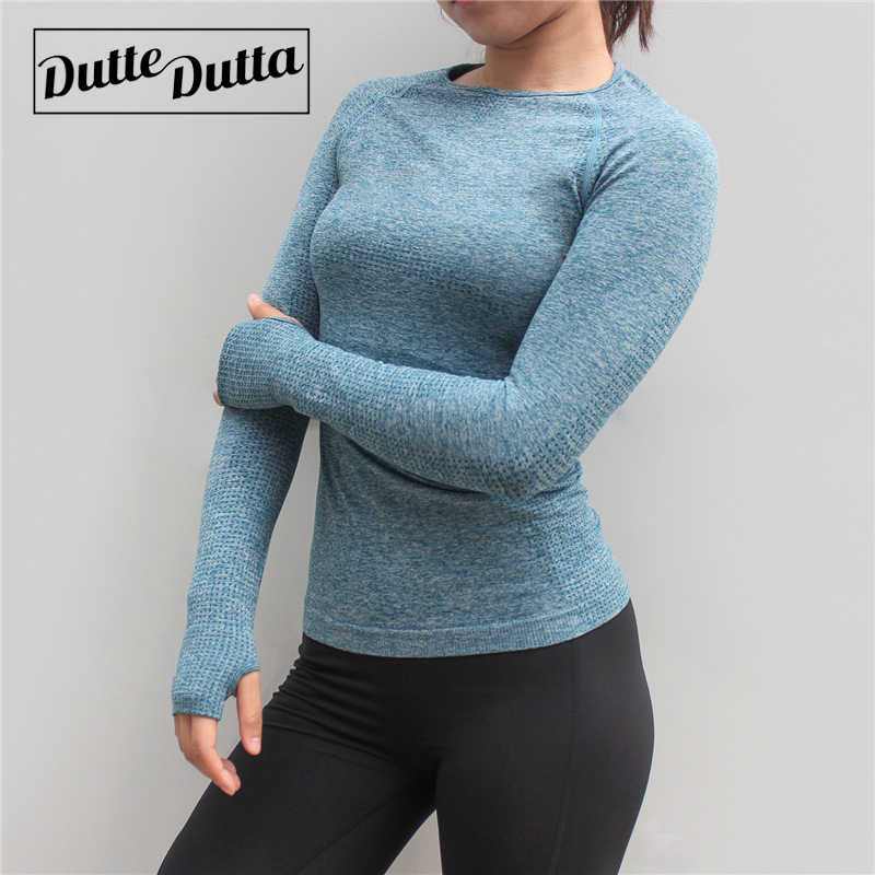 Women's Sports Wear For Fitness Women Jersey Seamless Long Sleeve Gym Woman Sport Shirt Yoga Top Female Workout Tops T-shirt