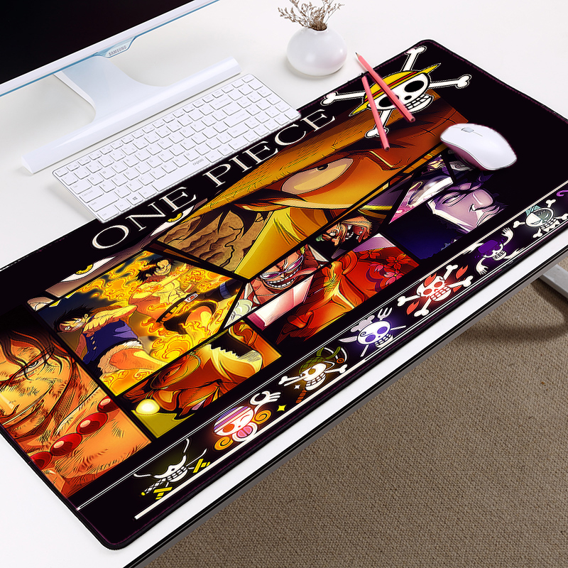 Mairuige One Piece Anime Comic Mousemat ACE Luffy Onepiece Logo Pattern Mousepad Anti-skid Wear Rubber Mat To Decorate Desktop