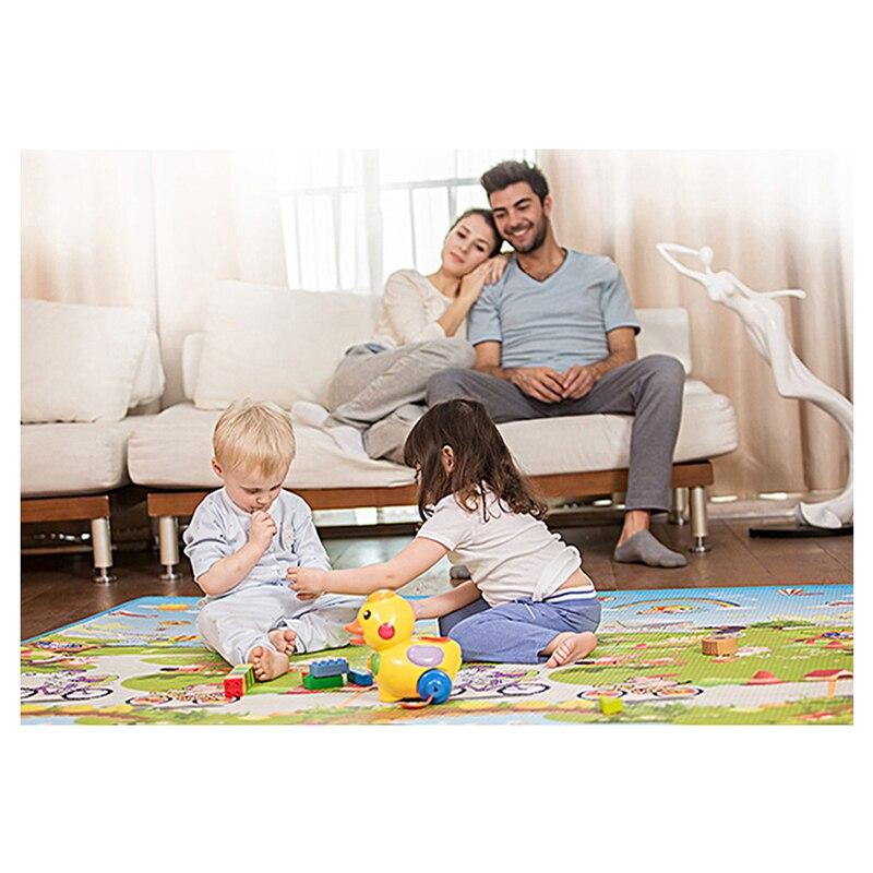 Coussin de ramper bébé 6.5 MM Double face EPE coussin de ramper bébé Anti-chute étanche à l'humidité tapis de jeu pour enfants jeu de marche pour bébé garçons et filles 122 - 6