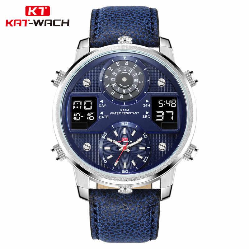 9fbdfbbb3 Mens Big Dial Watches Men Waterproof Sport Dual Display Military Outdoor  Digital Watch Male Clock Relogio
