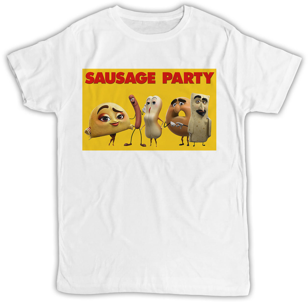 FUNNY SAUSAGE PARTY MOVIE POSTER IDEAL BIRTHDAY PRESENT SHORT SLEEVE T SHIRT High Quality For Man Better Interesting ...
