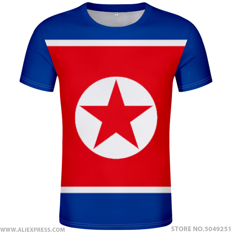 NORTH KOREA t shirt diy free custom made name number prk t-shirt nation flag kp korean country DPRK college print photo clothing image
