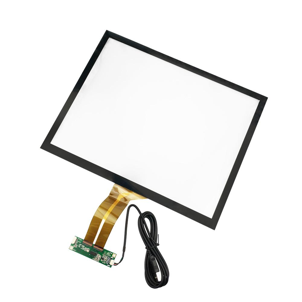 15 inch 4:3 Projected Capacitive Touch Screen Panel 10 Points+USB Controller Win 7,8 USB for Industrial Touch Screen Monitor
