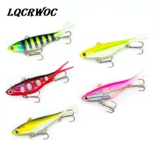 NEW 95mm 20g Lead VIB Bait Vibrating Soft bait With T Tail ice Fishing lures Bass Insect fish pesca swimbait jigging winter
