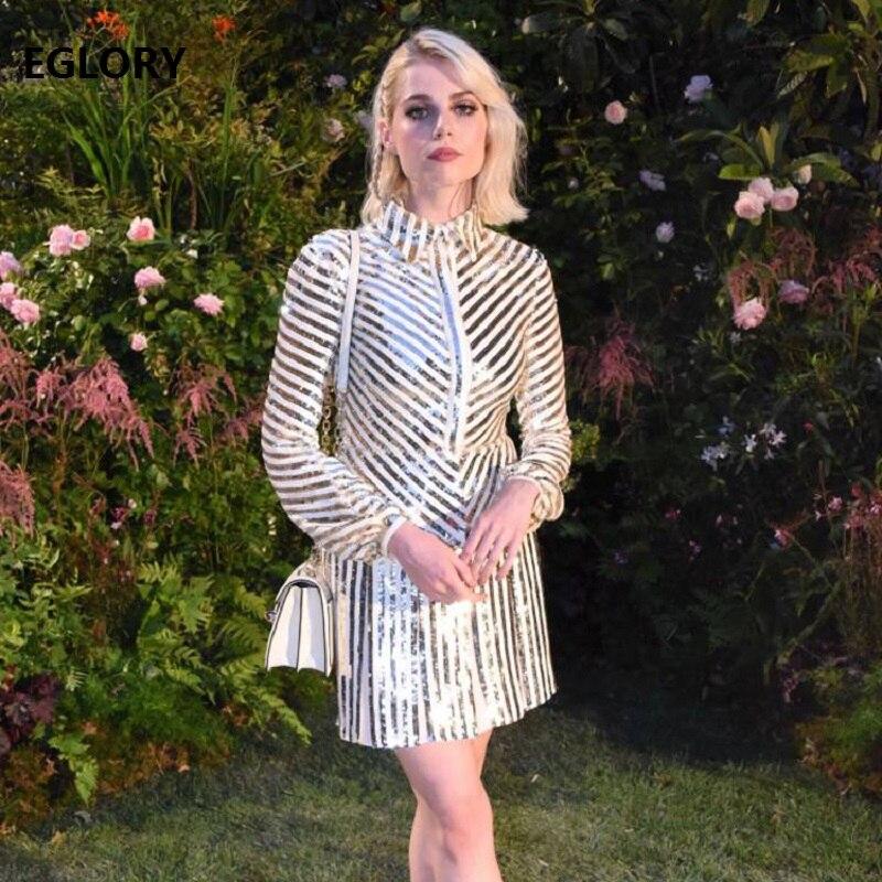 Одежда высшего качества Новая мода 2018 Вечерние вечернее женское платье повторяющийся блестками платье женские пикантные Вечерние знамени