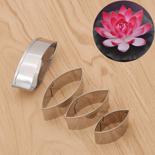 4pcs/Set DIY Handicraft Stainless Steel Pottery Cut Mould Accessories Lotus Making Pattern Mold Clay Tools