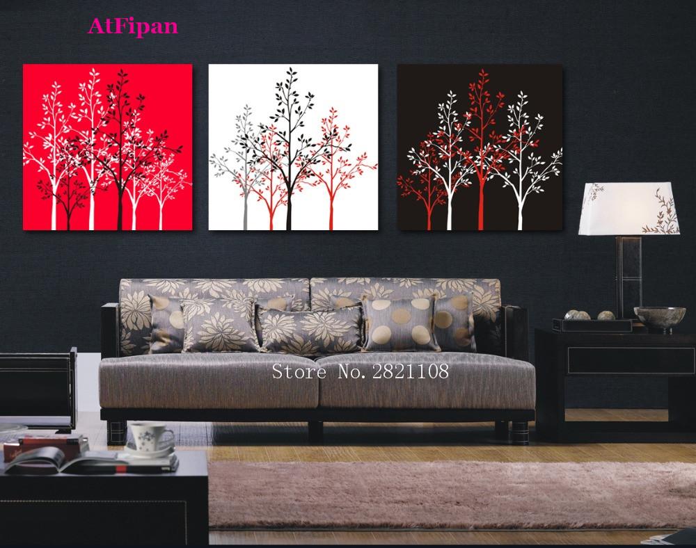 atfipan lienzo abstracto simple rboles modern wall art poster pared cuadros para la sala de la