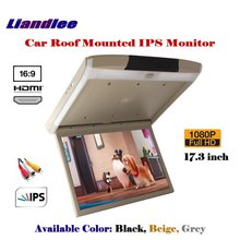 17.3 Inch Car Flip Down Display MP5 Player / Roof Mounted Monitor Overhead Ceiling IPS Screen / HDMI 1080P HD Digital Color TV цена и фото