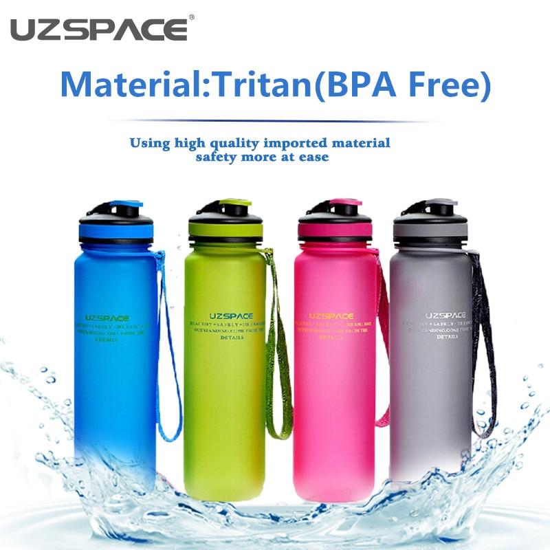 Uzspace पर्यावरण के अनुकूल Tritan (BPA मुक्त) खेल पानी की बोतलें स्क्रब कॉफी चाय दूध अंतरिक्ष चढ़ाई लंबी पैदल यात्रा सायक्लिंग बोतल