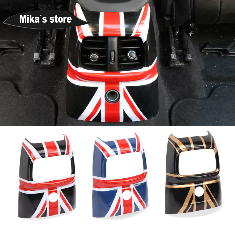 Union Jack Interior Cover Sticker Back Air Vent Cover Decoration Sticker Accessories For mini cooper F60 Countryman Car styling