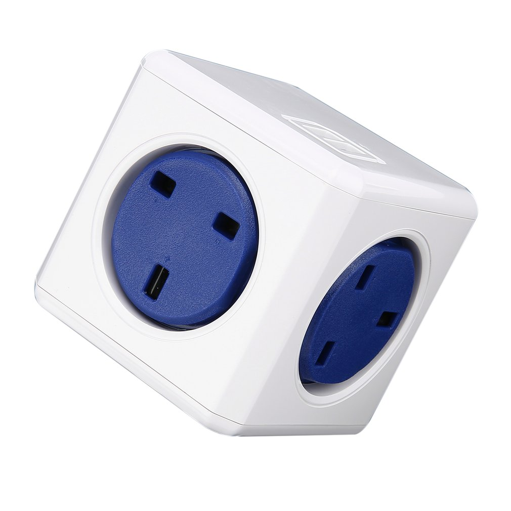 все цены на USB Power Cube Socket Adapter Wall Mount Magic Cube UK Plug Multi-Outlets Power Strip Extension Travel Multi Switched онлайн