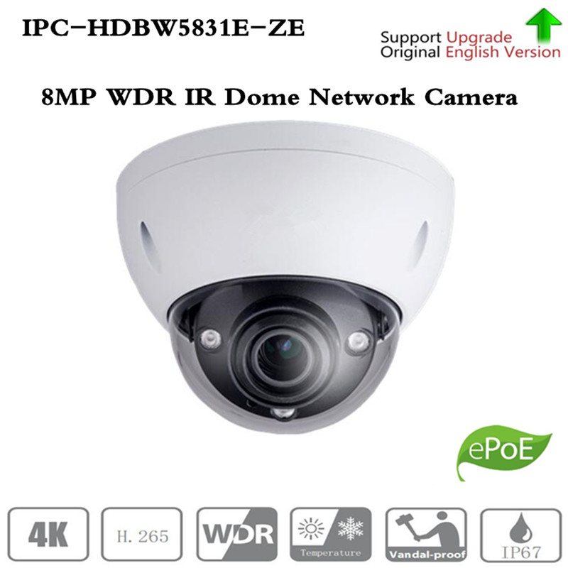 Original ahua 8MP dome IPC HDBW5831R ZE POE IR WDR Dome Network Camera IP67 IK10 2